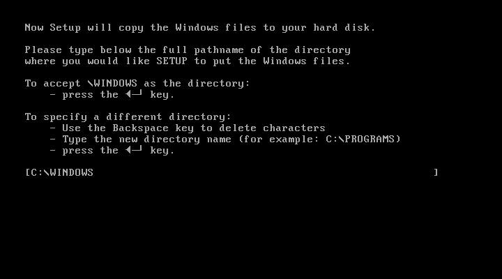 Windows 1 SETUP