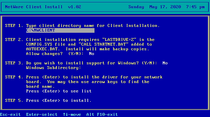 NWClient Install