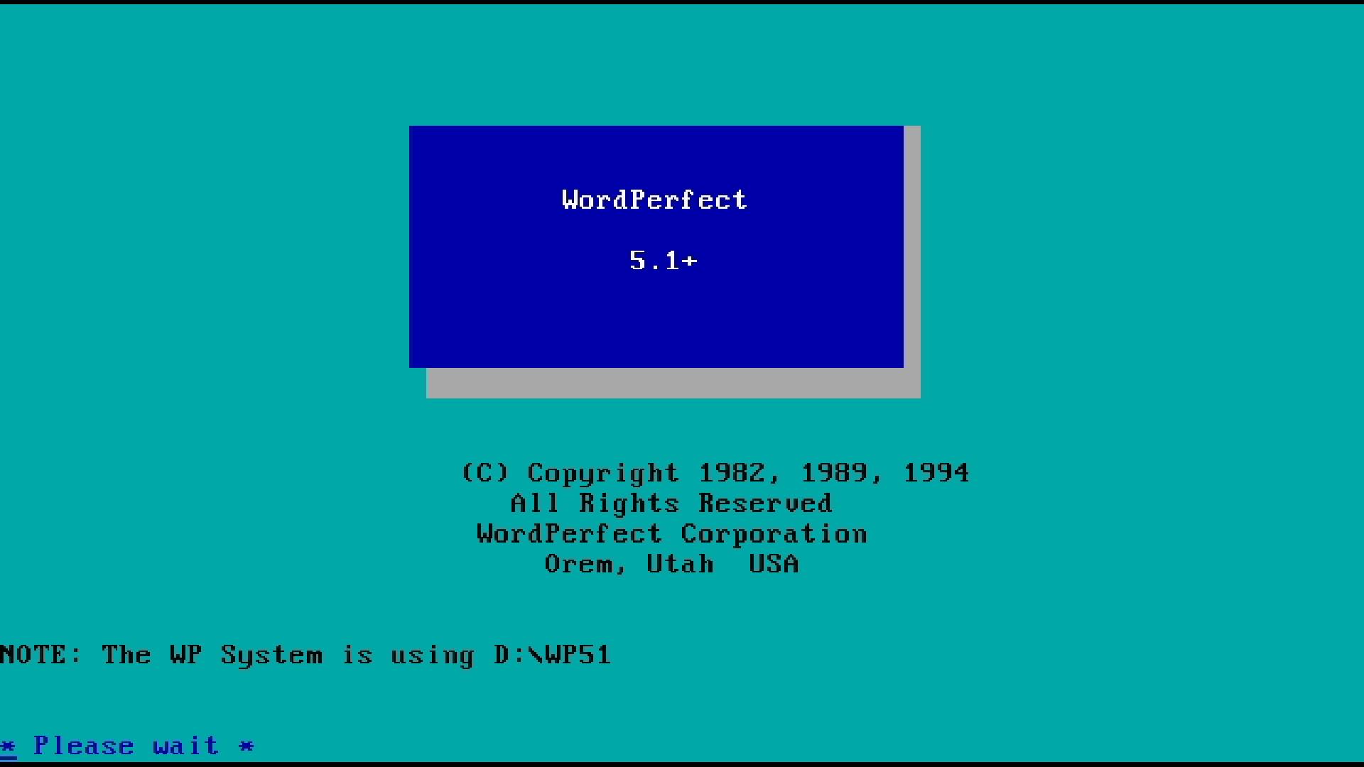 WordPerfect 5.1