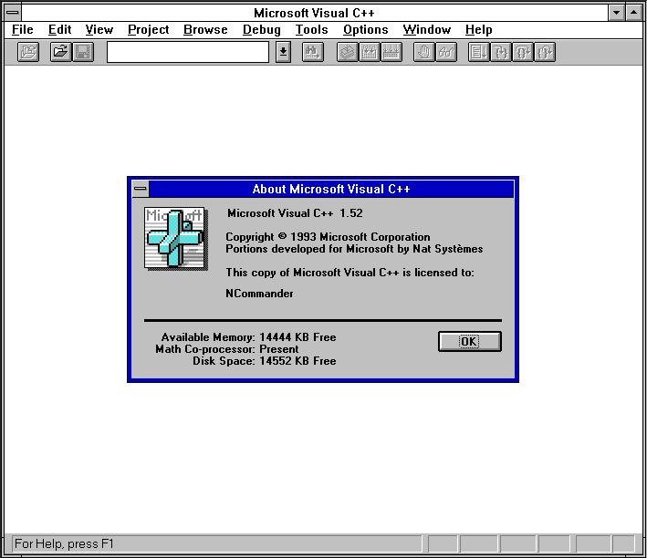 Visual C++ 1.52