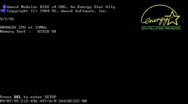 Award BIOS Bootup