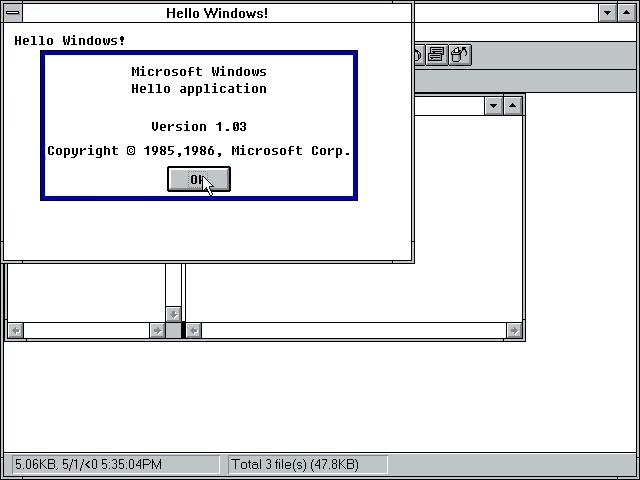 HELLO on Windows 3.1