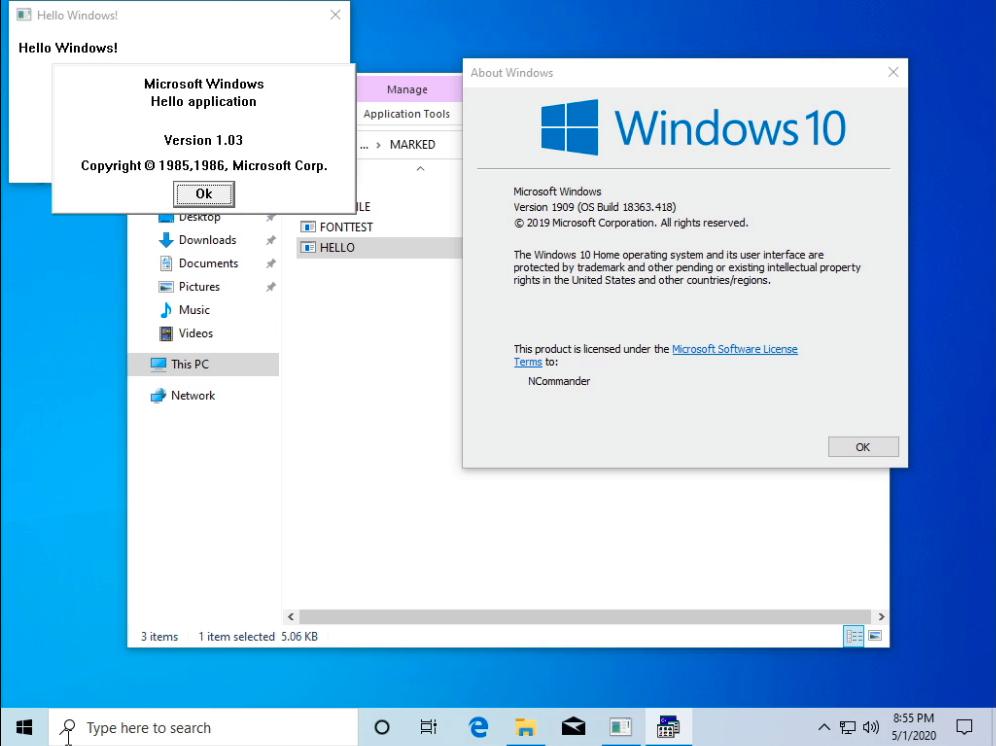 HELLO on Windows 10