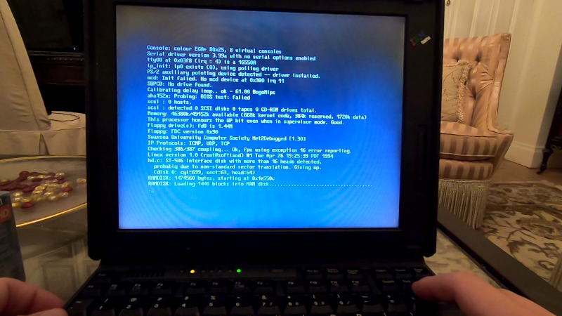ThinkPad boot error